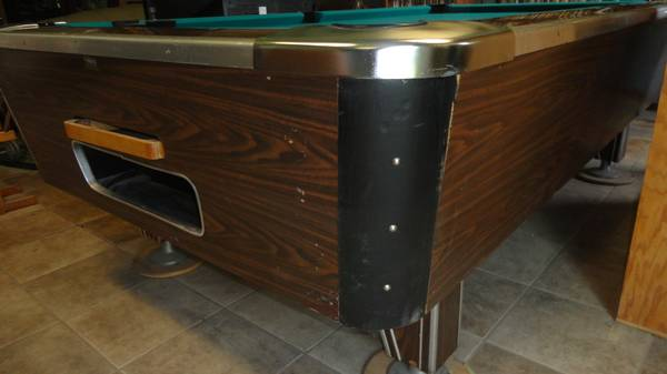 Coin Operated Valley Pool Table With Return Ball Sistem. Comes With Cover  And Its Bean Re Felted. All Working Perfectly And In Great Shape.