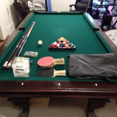 8' Pool Table + Ping Pong Tabletop + A Bunch of Extras